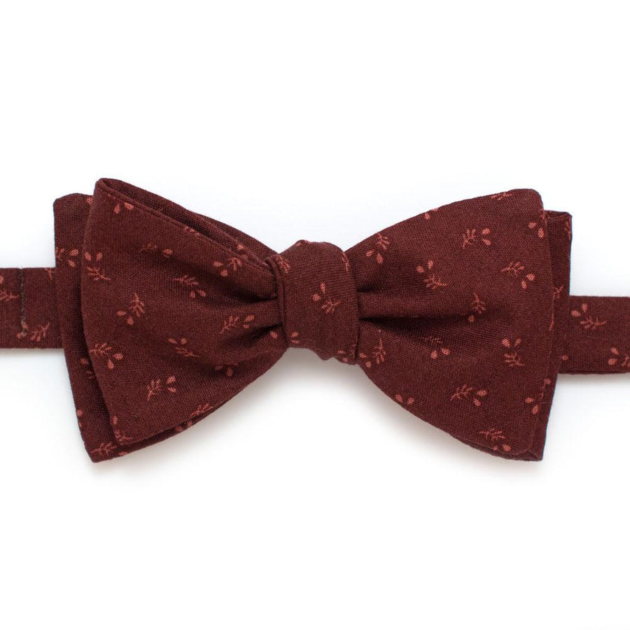 "Harvest Geo Classic Bow- Cranberry - General Knot & Co. ,  Self-Tied Classic Bow Tie 2.5"" at Widest - Neckwear and travel bags"