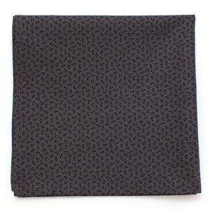 "Harvest Geo Pocket Square- Charcoal - General Knot & Co. ,  Squares 13""x13"" - Neckwear and travel bags"