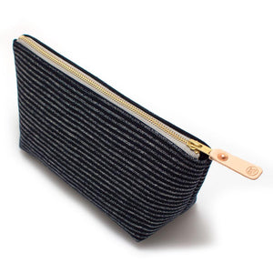 Indigo Chalk Stripe Travel Clutch - General Knot & Co. ,  Bags - Neckwear and travel bags