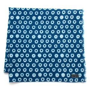 Indigo Circles Block Print Bandana - General Knot & Co. ,  Scarves - Neckwear and travel bags