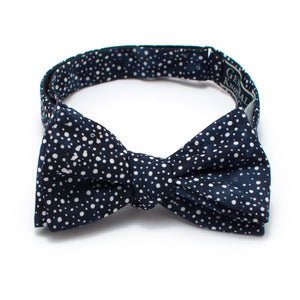 "Indigo Constellation Dot Bow - General Knot & Co. ,  Self-Tied Classic Bow Tie 2.5"" at Widest - Neckwear and travel bags"