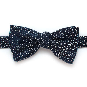 "Indigo Constellation Dot Bow-Available to ship 6/28 - General Knot & Co. ,  Self-Tied Classic Bow Tie 2.5"" at Widest - Neckwear and travel bags"