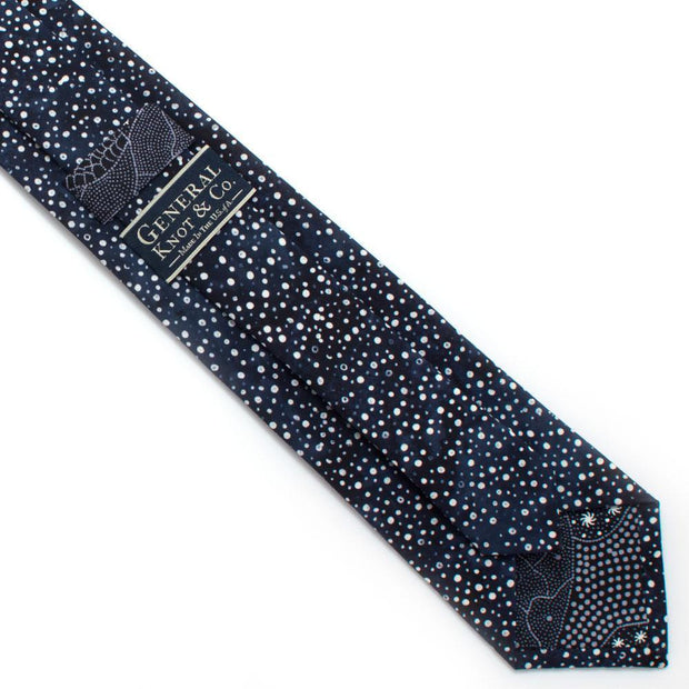 "Indigo Constellation Dot Necktie - General Knot & Co. ,  Classic Necktie 2 7/8"" x 58"" - Neckwear and travel bags"