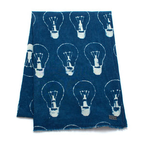 Indigo Light Bulb Block Print Scarf - General Knot & Co. ,  Scarves - Neckwear and travel bags
