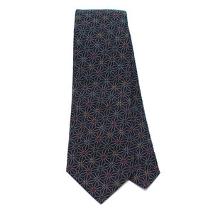 "Indigo Stain Glass Necktie - General Knot & Co. ,  Classic Necktie 2 7/8"" x 58"" - Neckwear and travel bags"