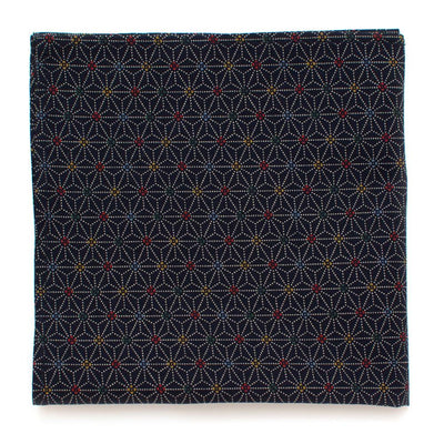 "Indigo Stain Glass Square - General Knot & Co. ,  Squares 13""x13"" - Neckwear and travel bags"