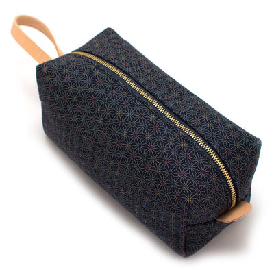 Indigo Stain Glass Travel Kit - General Knot & Co. ,  Bags - Neckwear and travel bags