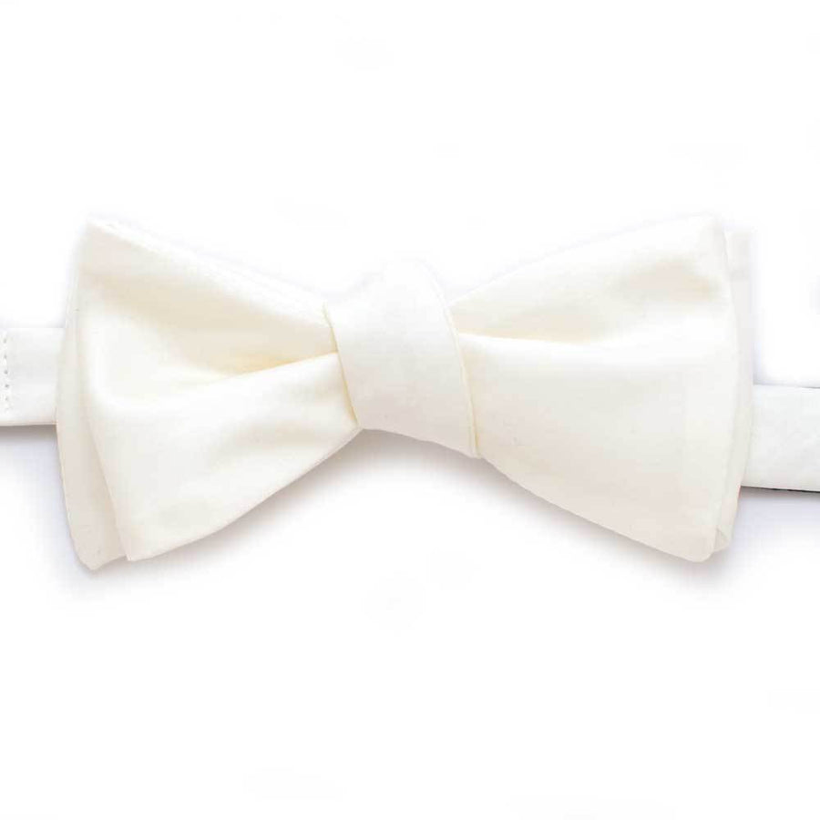 "Ivory Formal Classic Bow - General Knot & Co. ,  Self-Tied Classic Bow Tie 2.5"" at Widest - Neckwear and travel bags"