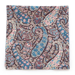"Jacob Paisley Pocket Square - General Knot & Co. ,  Squares 13""x13"" - Neckwear and travel bags"