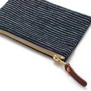 Japanese Indigo Chalk Stripe Carryall- Small - General Knot & Co. ,  Bags - Neckwear and travel bags