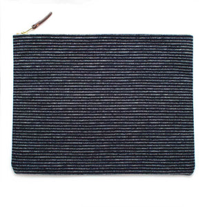 Japanese Indigo Chalk Stripe Laptop Sleeve/Carryall-Large - General Knot & Co. ,  Bags - Neckwear and travel bags