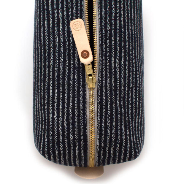 Japanese Indigo Chalk Stripe Travel Kit - General Knot & Co. ,  Bags - Neckwear and travel bags