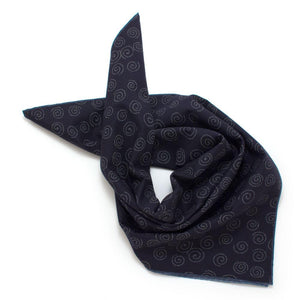 Japanese Indigo Circles/Chambray Double-Sided Bandana - General Knot & Co. ,  Squares - Neckwear and travel bags