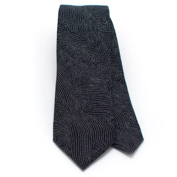 "Japanese Indigo Tidal Wave Necktie - General Knot & Co. ,  Classic Necktie 2 7/8"" x 58"" - Neckwear and travel bags"