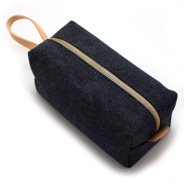 Japanese Tidal Wave Travel Kit- Indigo - General Knot & Co. ,  Bags - Neckwear and travel bags