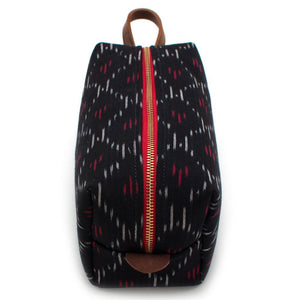 Japanese Tri-Color Ikat Travel Kit - General Knot & Co. ,  Bags - Neckwear and travel bags