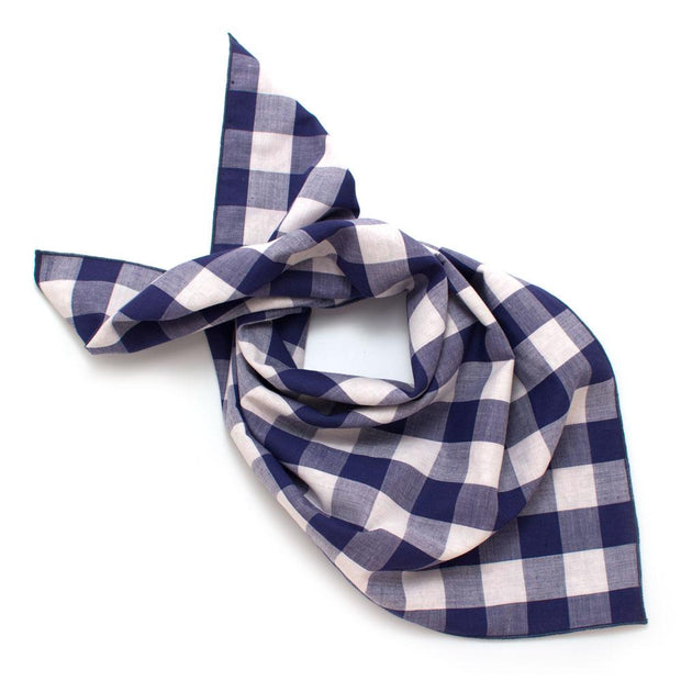 Large Gingham & Vintage Vines Double Sided Bandana - General Knot & Co. ,  Squares - Neckwear and travel bags