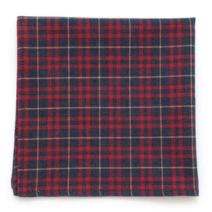 "Malton Check Square - General Knot & Co. ,  Squares 13""x13"" - Neckwear and travel bags"