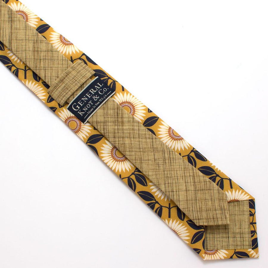 "Marguerite Daisy Necktie - General Knot & Co. ,  Classic Necktie 2 7/8"" x 58"" - Neckwear and travel bags"