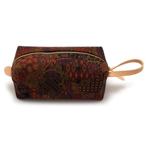 Maroon Thai Geo Travel Kit - General Knot & Co. ,  Bags - Neckwear and travel bags