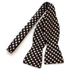 "Mayfair Dot Classic Silk Bow - General Knot & Co. ,  Self-Tied Classic Bow Tie 2.5"" at Widest - Neckwear and travel bags"
