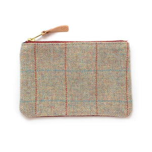 Melange Plaid Wool Zipper Pouch Bags General Knot & Co.