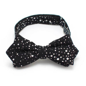 "Midnight Confetti Dot Bow - General Knot & Co. ,  Self-Tied Diamond Point Bow 2.5"" at widest - Neckwear and travel bags"