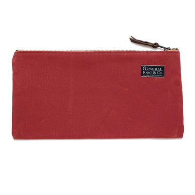 Nantucket Red Waxed Canvas Tool Pouch - General Knot & Co. ,  Bags - Neckwear and travel bags