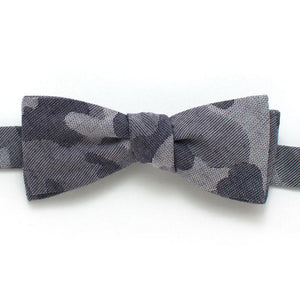 "Navy Camo Bow - General Knot & Co. ,  Self-Tied Classic Bow Tie 2"" at Widest - Neckwear and travel bags"