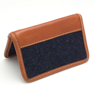 Navy Donegal Card Case - General Knot & Co. ,  Wallet - Neckwear and travel bags