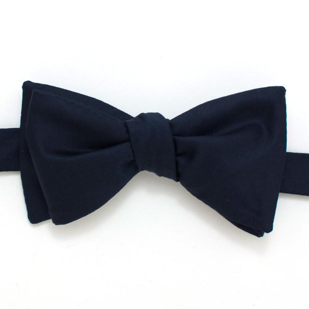 "Navy Formal Classic Bow - General Knot & Co. ,  Self-Tied Classic Bow Tie 2.5"" at Widest - Neckwear and travel bags"