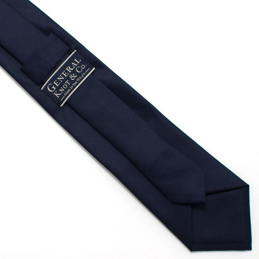 "Navy Formal Classic Necktie - General Knot & Co. ,  Classic Necktie 2 7/8"" x 58"" - Neckwear and travel bags"