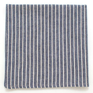 "Navy Heather Rope Stripe Square - General Knot & Co. ,  Squares 13""x13"" - Neckwear and travel bags"