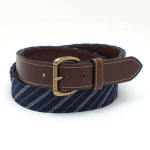 Navy Stripe Tab Belt - General Knot & Co. ,  Tab Belt - Neckwear and travel bags