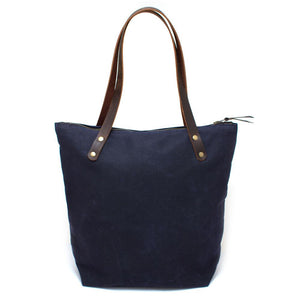 Navy Waxed Canvas Portfolio Tote - General Knot & Co. ,  Bags - Neckwear and travel bags