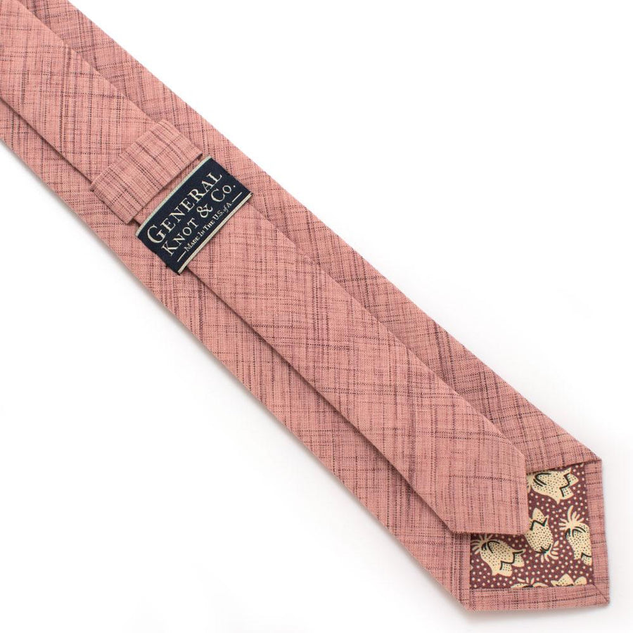 "Old Rose Crosshatch Necktie - General Knot & Co. ,  Classic Necktie 2 7/8"" x 58"" - Neckwear and travel bags"