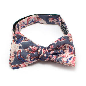 "Pink Sandstone Floral Bow - General Knot & Co. ,  Self-Tied Classic Bow Tie 2.5"" at Widest - Neckwear and travel bags"