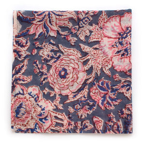 "Pink Sandstone Floral Square - General Knot & Co. ,  Squares 13""x13"" - Neckwear and travel bags"