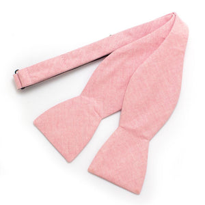 "Pink Sun Washed Classic Bow - General Knot & Co. ,  Self-Tied Classic Bow Tie 2.5"" at Widest - Neckwear and travel bags"