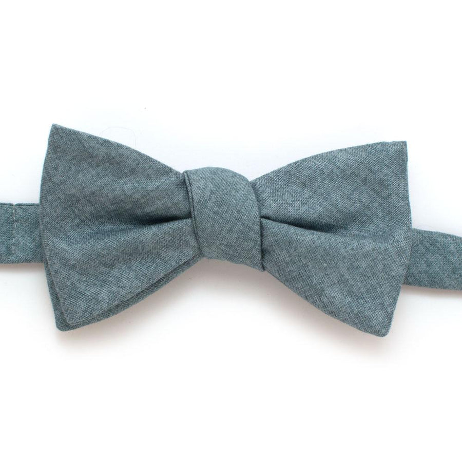 "Pond Melange Bow - General Knot & Co. ,  Self-Tied Classic Bow Tie 2.5"" at Widest - Neckwear and travel bags"