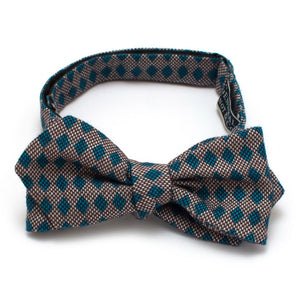 "Prato Harlequin Diamond Point Bow - General Knot & Co. ,  Self-Tied Diamond Point Bow 2.5"" at widest - Neckwear and travel bags"