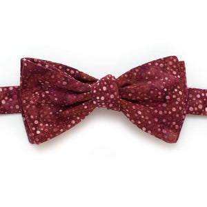 "Red Constellation Dot Classic Bow - General Knot & Co. ,  Self-Tied Classic Bow Tie 2.5"" at Widest - Neckwear and travel bags"
