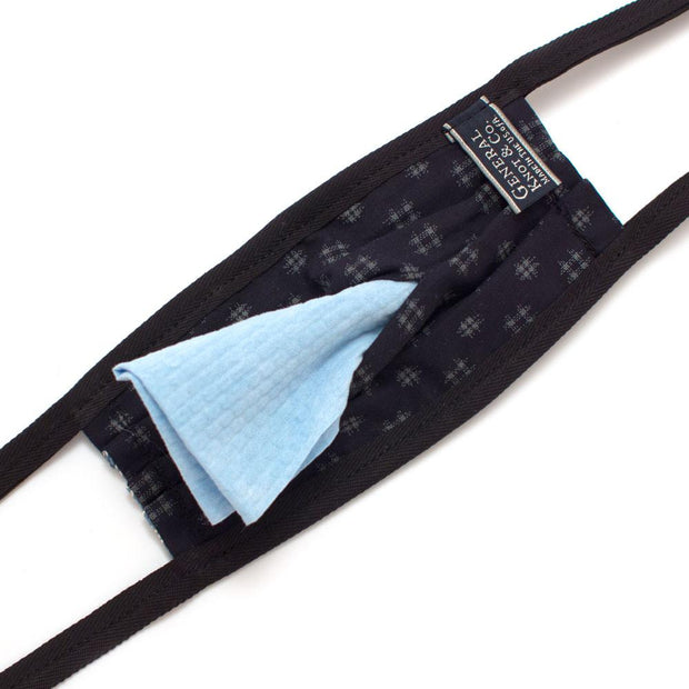 Reusable Blue Bandana Face Mask - General Knot & Co. ,  Archives - Neckwear and travel bags