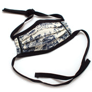 Reusable Nautical Toile Face Mask - General Knot & Co. ,  Masks - Neckwear and travel bags