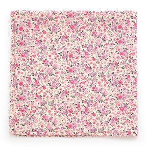 "Rose Floral Square - General Knot & Co. ,  Squares 13""x13"" - Neckwear and travel bags"