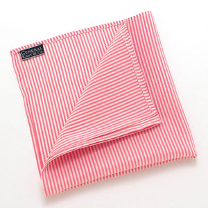 "Rose & Ivory Pinstripe Square - General Knot & Co. ,  Squares 13""x13"" - Neckwear and travel bags"