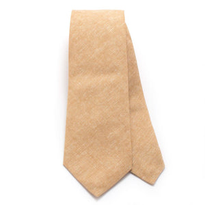 "Rustic Camel Chambray Necktie - General Knot & Co. ,  Classic Necktie 2 7/8"" x 58"" - Neckwear and travel bags"