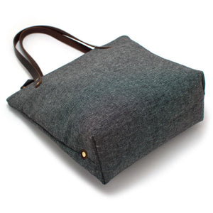 Rustic Coal & Ivory Portfolio Tote - General Knot & Co. ,  Bags - Neckwear and travel bags