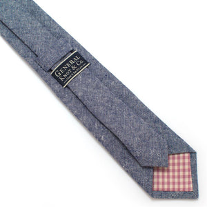 "Rustic Navy Chambray Necktie - General Knot & Co. ,  Classic Necktie 2 7/8"" x 58"" - Neckwear and travel bags"