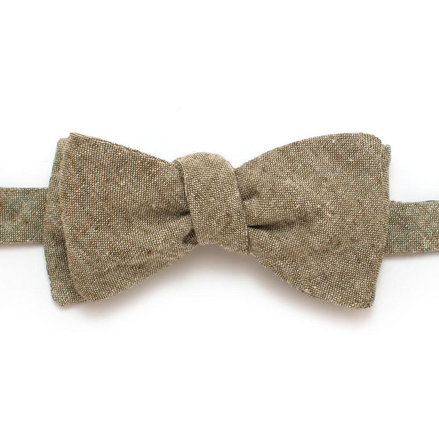 "Rustic Olive Chambray Bow - General Knot & Co. ,  Self-Tied Classic Bow Tie 2.5"" at Widest - Neckwear and travel bags"